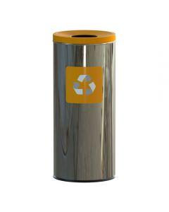 ALDA Eco - Prestige prullenbak 45L – Geel