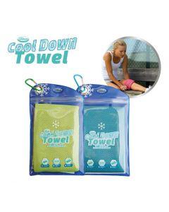 Cool Down Towel - incl. tas - Green + Blue