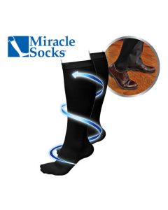 Miracle Socks - Compressiekousen - zwart S/M