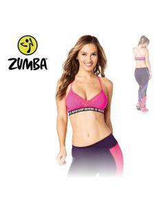 Zumba Never Stop Dancing Bra - Pink S