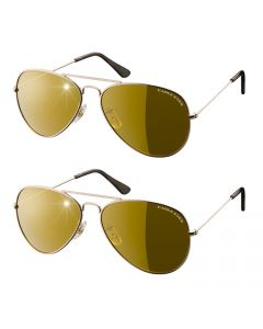 Eagle Eyes - Aviator Sunglasses set of 2 - Goud
