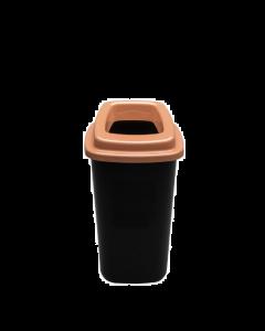 Plafor Prullenbak 45L – Recycling – Bruin